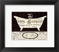 French Lace I Framed Print