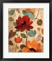 Vibrant Embroidery II Framed Print
