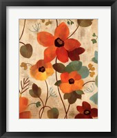 Vibrant Embroidery III Framed Print