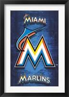 Framed Marlins - Logo 12