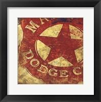 Framed Sheriff's Badge