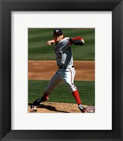 Framed Stephen Strasburg 2012 pitching