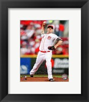 Framed Mat Latos 2012 Action