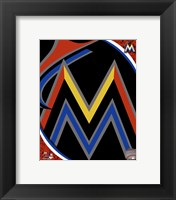 Framed Miami Marlins 2012 Team Logo