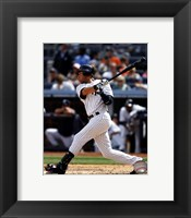 Framed Derek Jeter 2012 batting