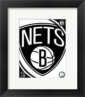 Framed Brooklyn Nets 2012 Team Logo