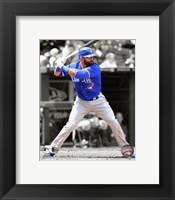 Framed Jose Bautista 2012 Spotlight Action
