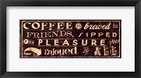 Coffee Quote IV Framed Print