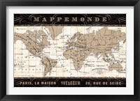 Framed Mappemonde