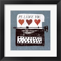 Framed Vintage Desktop - Typewriter