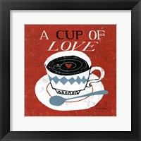 Vintage Desktop - Coffee Framed Print