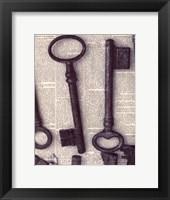 Framed Parisian Keys I
