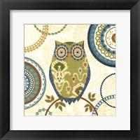 Framed Owl Forest I