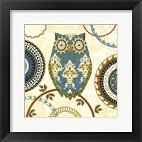Framed Owl Forest II