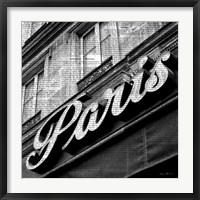 Framed Newsprint Paris