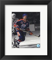 Framed Mark Messier 1990 Stanley Cup Finals Spotlight Action