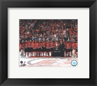 Framed New Jersey Devils with the Prince of Wales Trophy  after Winning the 2012 NHL Eastern Conference Finals