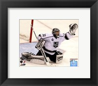 Framed Jonathan Quick Game 2 of the 2012 Stanley Cup Finals Action
