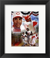 Framed Barry Larkin 2012 MLB Hall of Fame Legends Composite