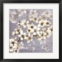 Framed Silver Blossoms II