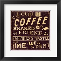 Framed Coffee Quote I