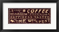 Coffee Quote III Framed Print
