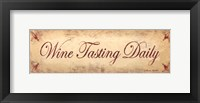 Wine Tasting Daily Framed Print