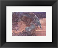 Framed Angel at Rest - foil