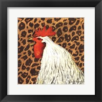 Framed Cheetah Rooster