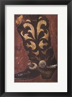 Framed Cowboy Boot II