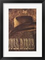 Framed Bull Rider