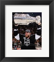 Framed Jeff Carter with the Stanley Cup Trophy after Winning Game 6 of the 2012 Stanley Cup Finals