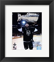 Framed Drew Doughty with the Stanley Cup Trophy after Winning Game 6 of the 2012 Stanley Cup Finals