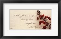 Framed Love Is Life