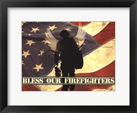 Framed Bless Our Firefighters