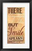 A Smile Framed Print