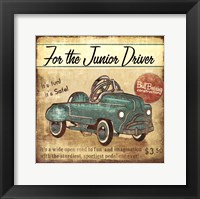 Junior Driver Framed Print