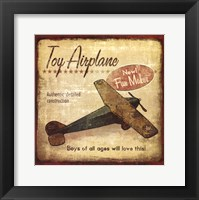 Framed Toy Airplane