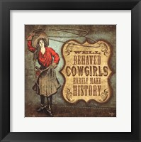 Framed Cowgirls