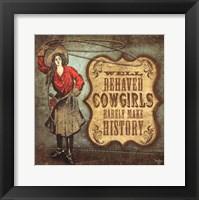 Framed Cowgirls