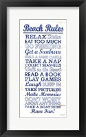 Framed Beach Rules
