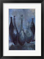 Framed Vases in Blue II