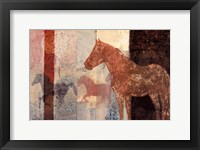 Framed Patterned Horse II