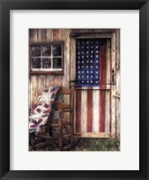 Framed American Rocker