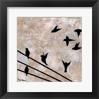 Framed Birds On A Wire II