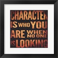 Framed Character