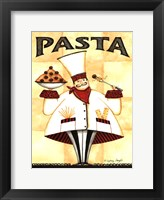 Framed Chef Pasta - with meatballs