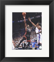 Framed Dwyane Wade Game 2 of the 2012 NBA Finals Action