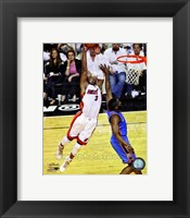 Framed Dwyane Wade Game 3 of the 2012 NBA Finals Action