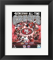 Framed San Francisco 49ers All-Time Greats Composite